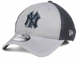 7ea1d09c814 New York Yankees MLB Gray Neo Mesh Back Flex 39THIRTY Baseball Cap ...