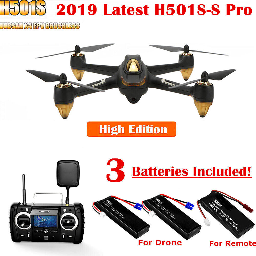 Hubsan H501S Pro 2019 5.8G FPV Drone Brushless 1080P Follow Me GPS RC Quadcopter