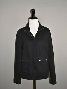 BANANA-REPUBLIC-78-Black-Soft-Knit-Zip-Button-Front-Jacket-Medium