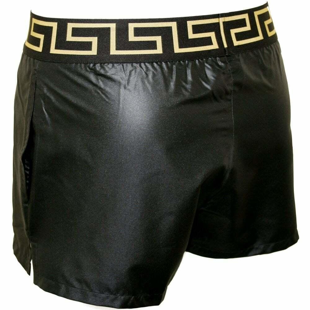 Black//gold Versace Iconic Luxe Men/'s Swim Briefs