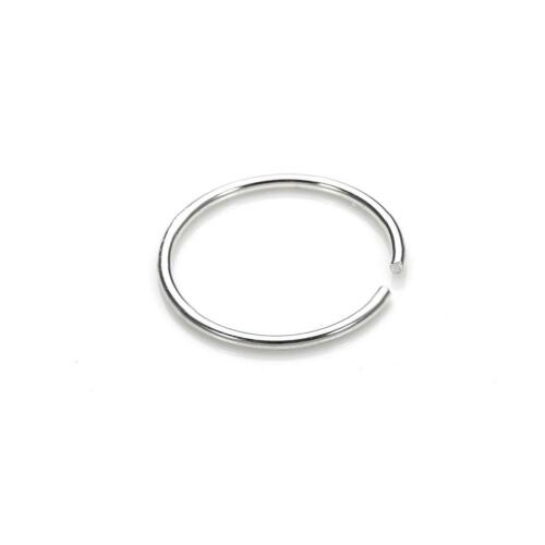 24 Gauge 925 Sterling Silver Nose Ring 24 GA 8mm Diameter
