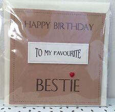 Handmade Best Friend 'Bestie' Birthday Card vintage theme