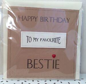 Handmade Best Friend Bestie Birthday Card Vintage Theme Ebay
