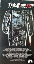 Friday the 13th (VHS, 1980, EP Mode) Kevin Bacon, Adrienne King, Robbi Morgan