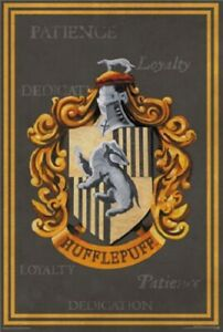 Harry-Potter-Hufflepuff-Crest-POSTER-61x91cm-NEW-Patience-Loyalty-Dedication