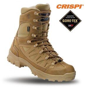 all'avanguardia dei tempi vasta gamma genuino Dettagli su CRISPI Apache GTX Anfibi Militari in GORETEX Boots Security  Vera Pelle COYOTE
