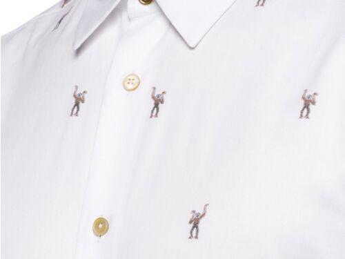 Nueva Camisa De Impresión Mono Paul Smith Talla 15.5