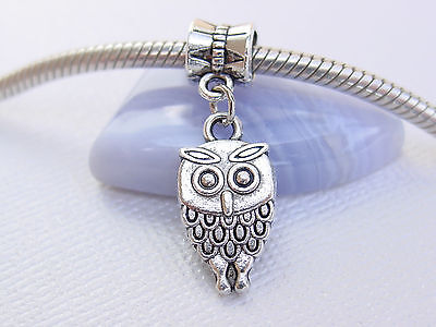 Owl Cute Bird Metal Small Charm Pendant Animal