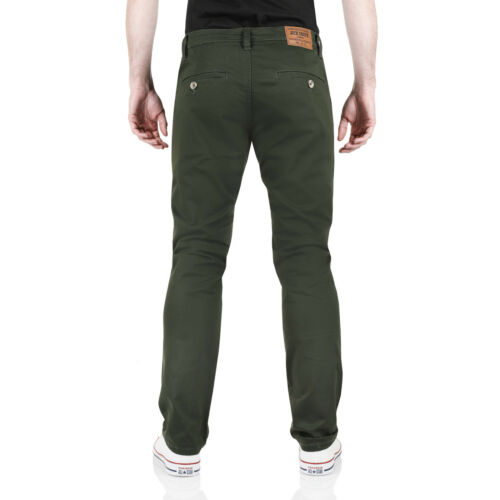 New Mens Chinos Slim Fit Stretch Cotton Skinny Designer Twill Trousers Pants
