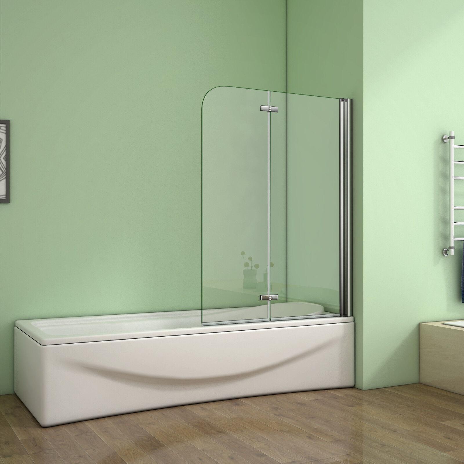 1100x140cm Badewannen-Faltwand Duschabtrennung Glaswand Badewannenaufsatz M14