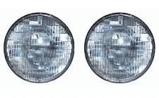 "7"" Round Sealed Beam Halogen Headlights Headlamp Light Bulbs Pair 6006 6V 6 Volt"