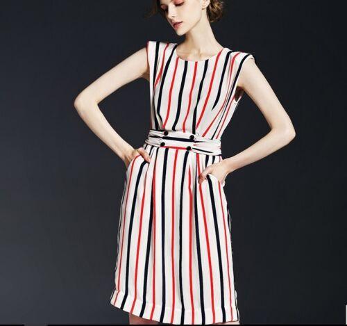 Dress Xs Women Striped Lovely Bnwt wqF0xEnI