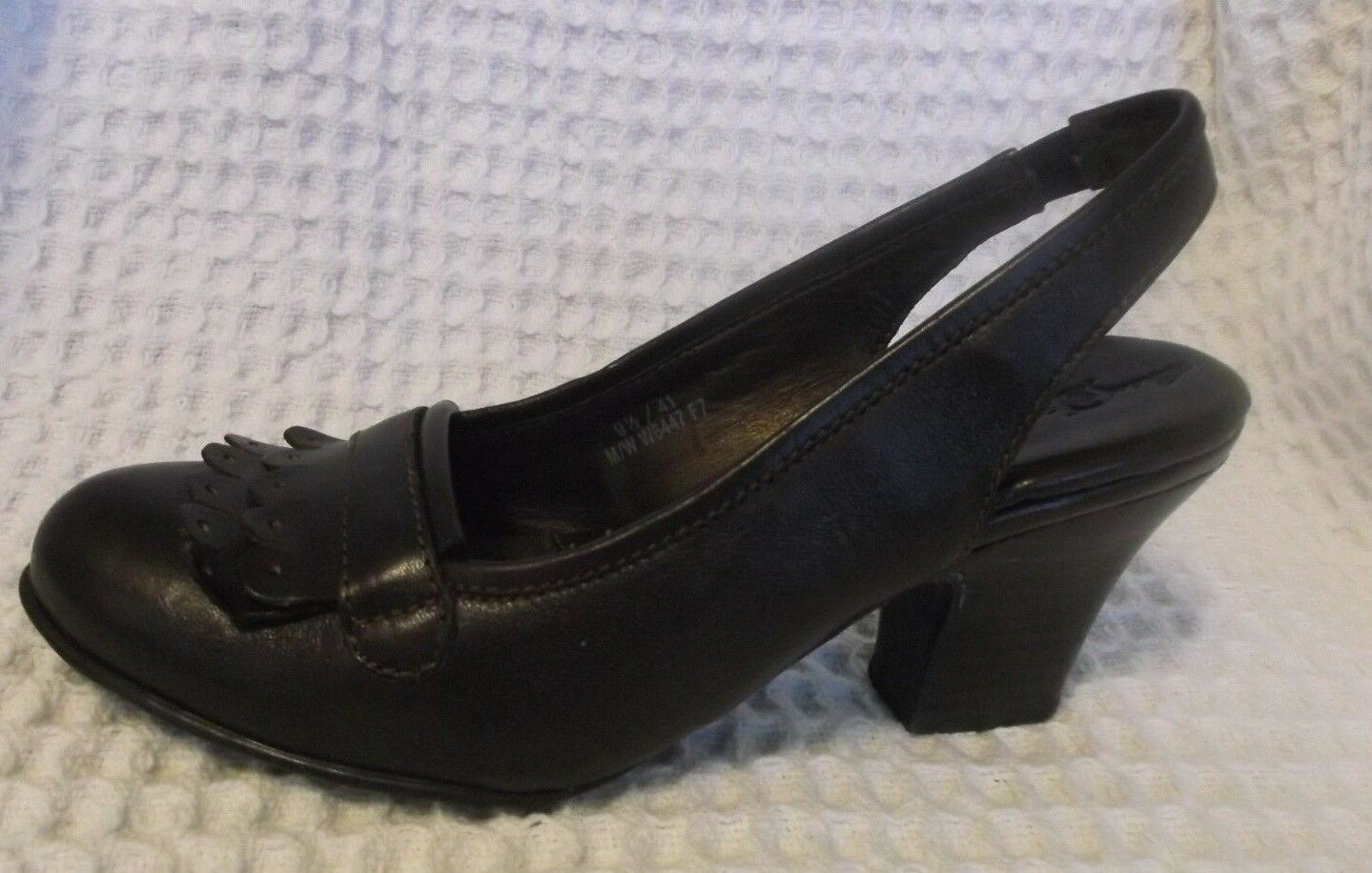 NEW Born Crown Brown Leather Comfort Oxford NWOB Slingback Pumps 9.5 Wide NWOB Oxford 815df7