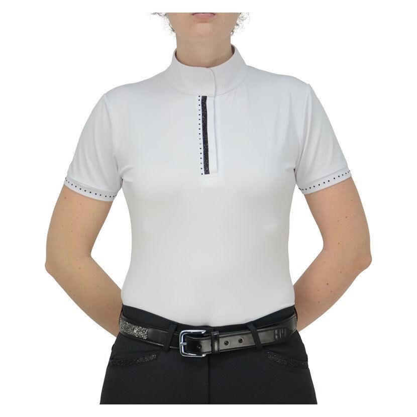 HY Fashion Donna Roka Donna Mostra Shirt Nero Nero Nero Cristallo Sparkle Bianco XS-XL | Online Store  | La Qualità Del Prodotto  7832f8