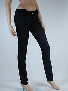 f901ab1db20f3 Image is loading Women-black-slim-trousers-size-42-sessun-modele-