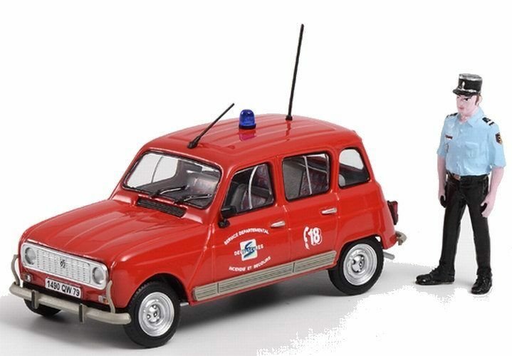 Coche de Bomberos Renault 4 TL Sdis 79 con Figura 1 43 Eligor