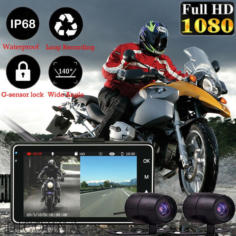 3-inch 1080P HD Dual Camera Motorcycle DVR Dash Cam Driving