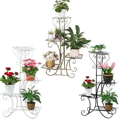 Herzhaft Blumentreppe Metall Blumenregal Blumenständer Blumenbank Für Wohnzimmer Garten Weich Und Rutschhemmend