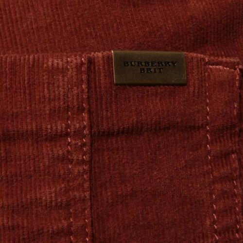 Pantalons Burberry Pantalons Femmes Femme Orange 53079 Jeans Jeans Velours Brit Otwd1S