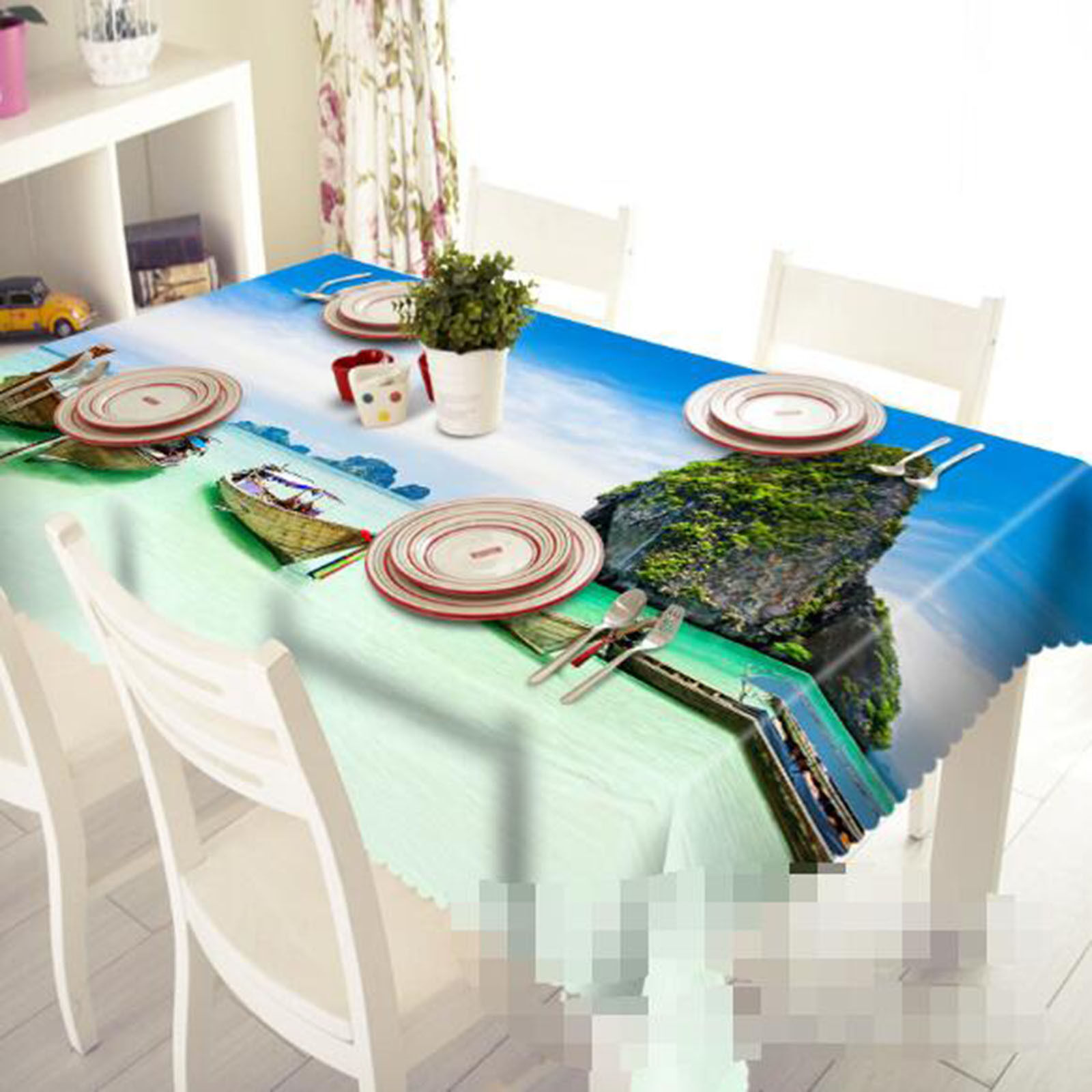 3D Ferry 62 Nappe Table Cover Cloth fête d'anniversaire AJ papier peint Royaume-Uni Citron