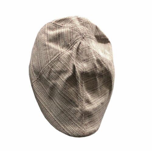 New Men's Wool Blend Linen Plain Patterned Cabbie Flat Hat Newsboy Cap