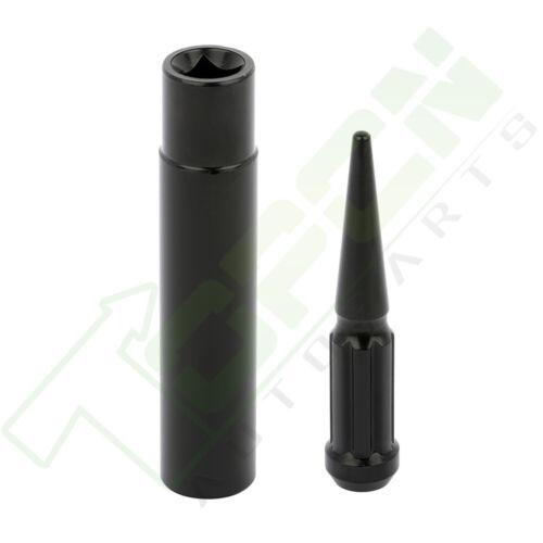 24 Pcs of Black M14x2 Nuts 1 Key Fits 99 00 01 02 Fits Ford F-250 Super Duty