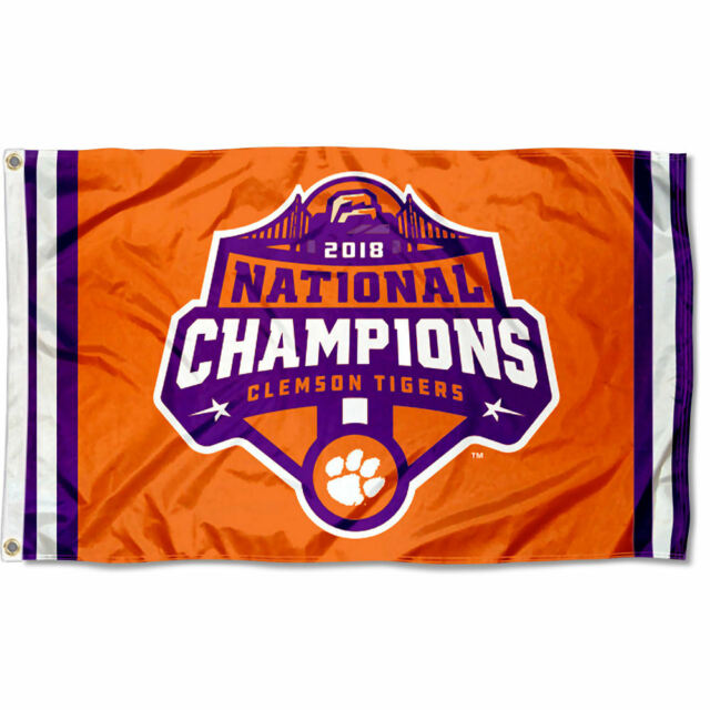 Tigers Clemson Tigers 3 Times National Champions Man Cave Flag Banner 30x50Inch