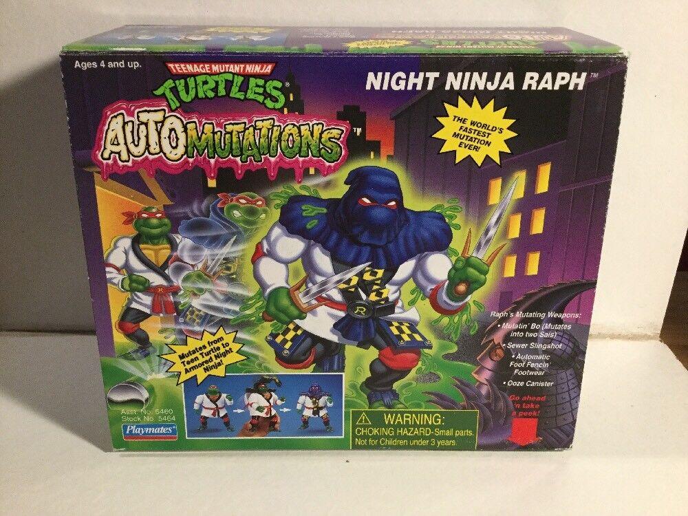 1990's Teenage Mutant Ninja Ninja Ninja Turtles Auto Mutations Night Ninja Raph Box Sealed 7d3fc5