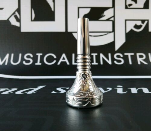 18.5mm Alto Horn double cup Hand Engraved mouthpiece-#3