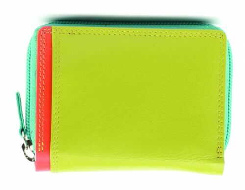 Small Leather Purse In Lime Green Graffiti Range By Golunski