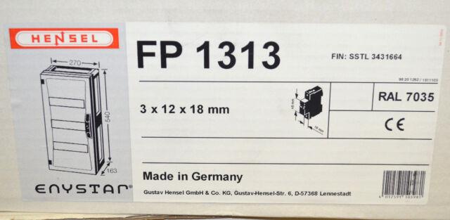 HENSEL FP 1313 ENYSTAR - Automatengehäuse Installationskleinverteiler NEU OVP