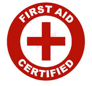 First-Aid-Certified-Emblem-Vinyl-Decal-Window-Sticker-Car