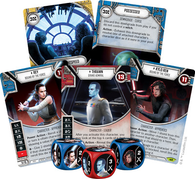 Star Wars Destiny Spark of Hope Rare Play Set = 2 of each rare with die