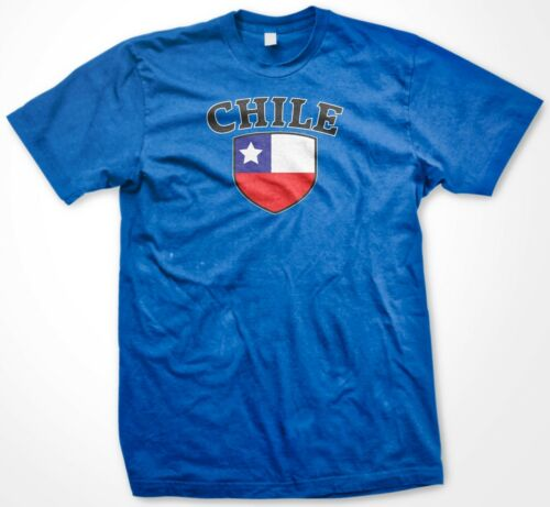 Chile Chilean Country Crest Flag Colors Ethnic Pride Men/'s T-shirt