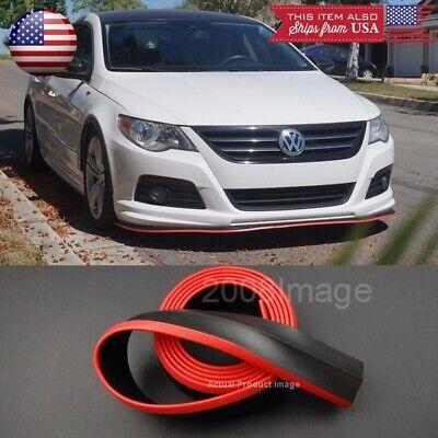 "1.3/"" Wide 8 FT Red EZ Fit Bumper Lip Trim Splitter Chin Spoiler For Mazda Subaru"
