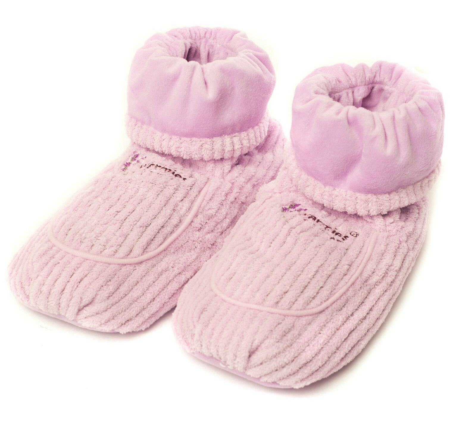 Warmies Spa Therapy Microwavable Heatable Boots in Lilac - Gift Boxed
