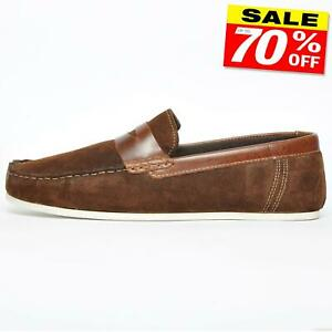 red tape wardon men's suede leather slip on loafers casual
