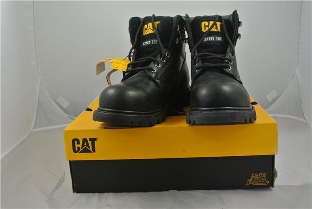 CATERPILLAR schwarz STEEL TOE CAP NEW ANKLE Stiefel UK 9 WORK LEISURE