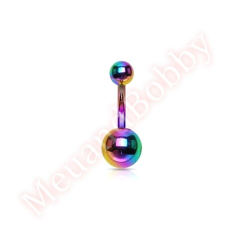 Titanium Anodized Belly Button Navel Bar Ring Body Piercing Jewellery