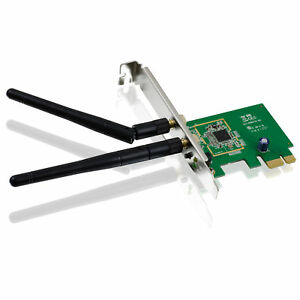 300Mbit-PCIe-WLAN-Karte-PCI-Express-Wireless-LAN-802-11n-g-b-300-150-54-Mbps