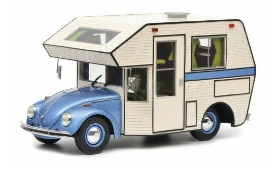 450011400 - Schuco VW Beetle Motorhome-Bleu (00114) - 1 18