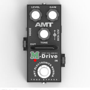 AMT-Electronics-M-Drive-MINI-MD-2-JFET-distortion-pedal-emulates-Marshall