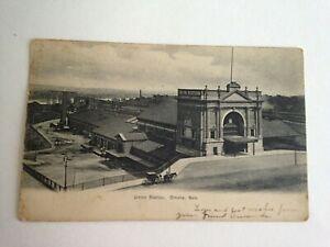 1906-POSTCARD-UNION-RAILROAD-TRAIN-STATION-OMAHA-NEBRASKA-NE-F37