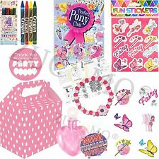 Girls Filled Party Boxes Themed Kids Pink Fairy Supplies Ready Made