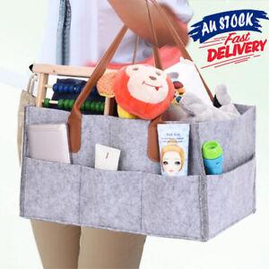 Diaper-Storage-Caddy-Nappy-Bin-Infant-Wipes-Bag-Basket-Nursery-Organizer-Baby