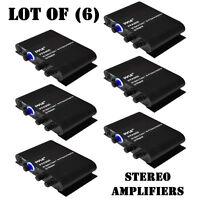 Lot Of (6) Pyle Pfa300 90w Class T Hi-fi Audio Amplifier Aux-in W/ Ac Adapter
