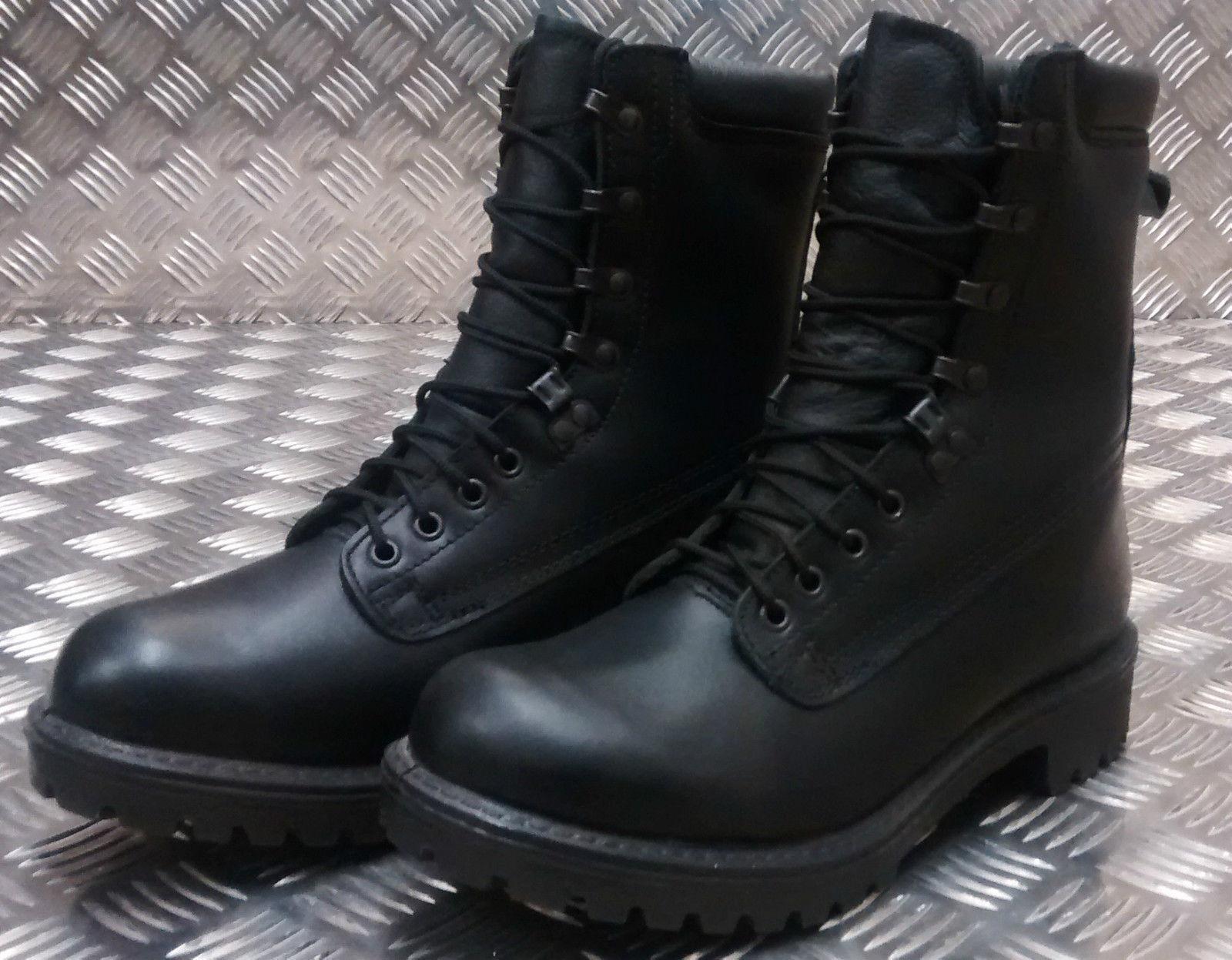 Los últimos zapatos de descuento para hombres y mujeres Original British Army S10 Goretex Asalto Cuero Negro Combat/Botas- USADOS