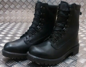 Genuine-British-Army-S10-Goretex-Assault-Black-Leather-Combat-Boots-Used