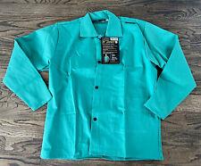 Tillman 6230 30 9 Oz Green Fr Cotton Welding Jacket Medium Brand New