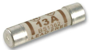 PACK OF 10x 13A 13 amp mains fuses suit standard house plug tops 230 ...